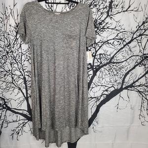 LuLaRoe Carly Dress Grey High Low Small